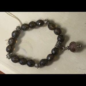 Jewelry - Brown Glass Bead Bracelet